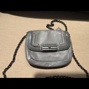 Gray authentic cross body coach purse
